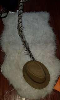 Rare item Morris hats cap with special customized feathers