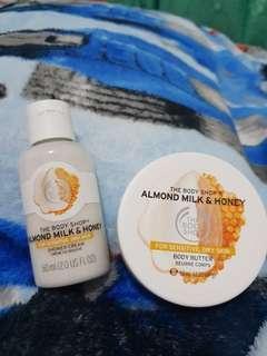 The Body Shop Almond Milk and Honey Body Butter & Shower Cream