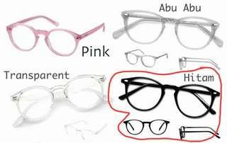 Kacamata Lensa bulat unisex
