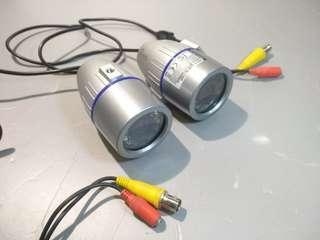 兩個 水底用 潛水夜視鏡頭Weather proof color video Camera D&N 防水監控