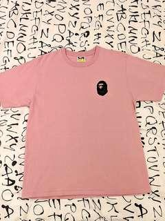 Bape Japan Logo Tee - Light Pink (Size L)