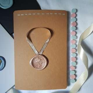 🚚 Wax Seal Cards for Valentine's Day (Brown Card)