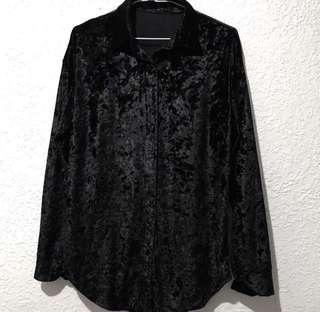 🚚 全新 韓版黑色寬鬆襯衫 外搭