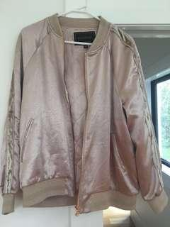 Forever New rose gold bomber jacket