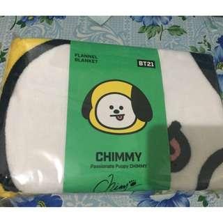 BT21 Chimmy Flannel Blanket
