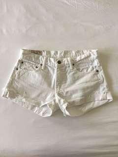Polo Ralph Lauren White Denim Shorts Size 26