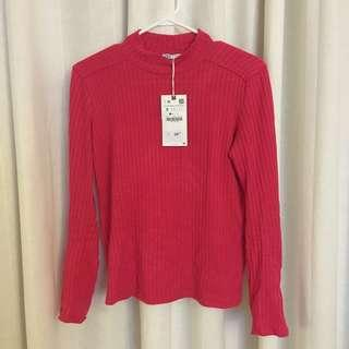 ZARA Pink Ribbed Sweater