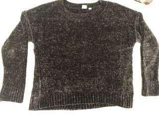 Gap navy blue chenille sweater