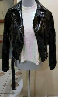 Forever 21 Glossy Leather Jacket
