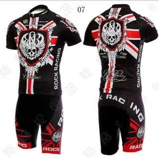 Rock Cycling Jersey Set