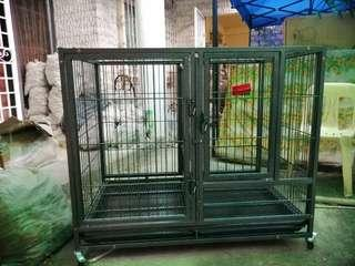 Dog Cage D-194 for Big dog with detachable divider on the middle  2 doors,