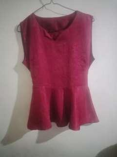 NEW Red Blouse free ongkir