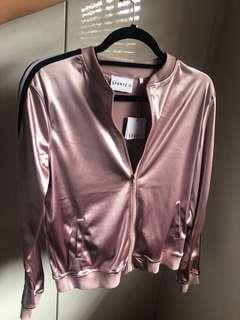 Metallic pink sports jacket