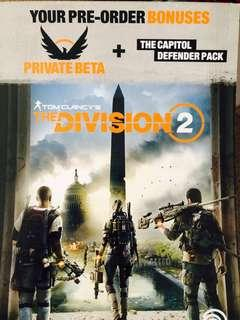 Giveaway: The Division 2 Private Beta Code