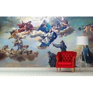 ANGELS & CATHEDRAL WALL MURAL ART