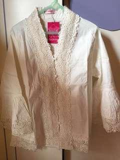 Pattern White Shirt