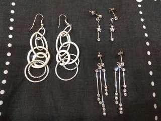 #MFEB20 Silver dangling earrings bargain! 3 for rm10