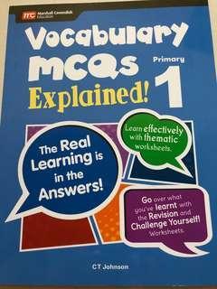 Vocabulary McQ explained primary 1