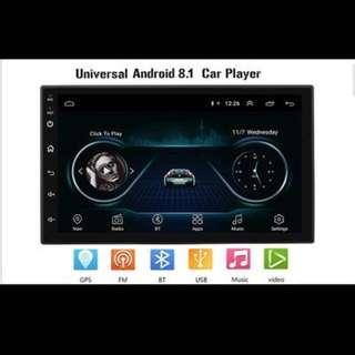 Android 8.1, 7 Inch Full Touch Screen 2Din Quad-Core Android 8.1 Car Stereo MP5 Player GPS Navi AM FM Radio WiFi BT4.0 Phone Link Head Unit, Car Radio and Audio System