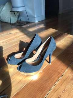 Zara black peep toe shoes