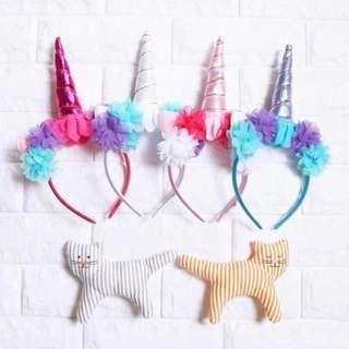 🚚 Instock - unicorn hairband, baby infant toddler girl
