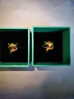 🚚 Gold Plated Ring -Fox design