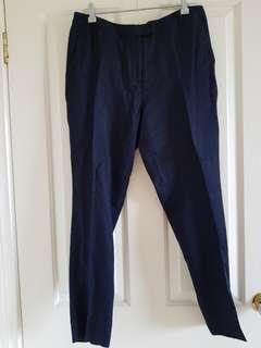 Forever New navy tailored pants, s 12 (like new)