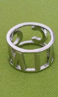MIMCO ring silver label SIZE 2O