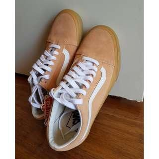 Vans UNISEX Old Skool Double Light Gum Apricot Men US 6 Women US 7.5