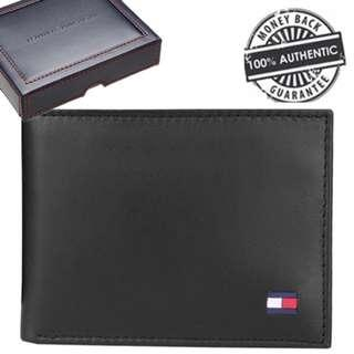 3ce18302cf1 NEW Tommy Hilfiger Men s Dore Leather Wallet With Removable ID Passcase  (Red Black)