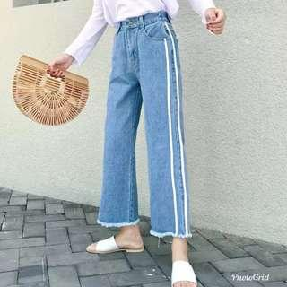 🚚 Denim Culottes high waisted pants