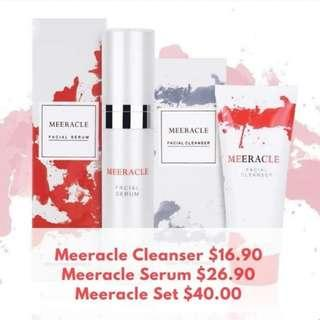 💎💎💎 MEERACLE GEMSTONE CLEANSER & SERUM Beauty Set 💎💎💎 FREE DELIVERY WHEN PURCHASE IN OUR Qoo10 STORE