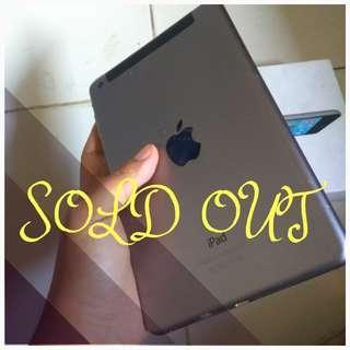 SOLD OUT!!! Ipad mini 2 (RETINA) cell+wifi silver 16GB lengkap