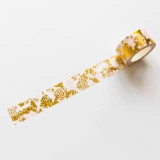 🚚 [PO] garden gold foil washi tape