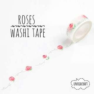 🚚 [PO] roses floral washi tape
