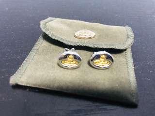 Vivienne Westwood 銀色金logo耳環