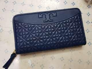 Tory Burch Continental Zip Leather Wallet
