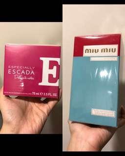 Escada 及 Miu Miu 香水