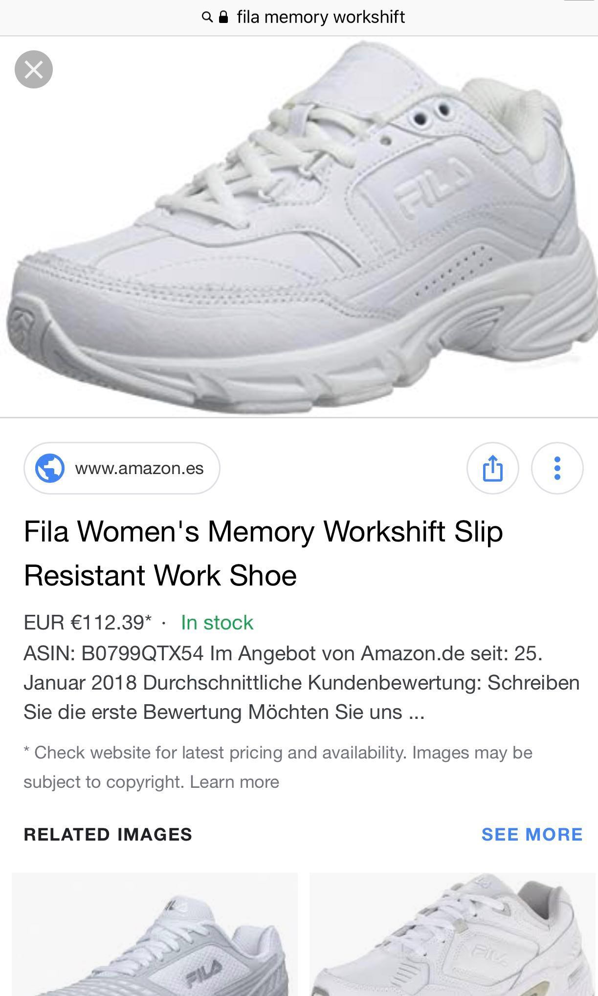 100% authentic Fila memory workshift exact white shoe e498d615a60