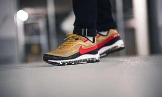 pretty nice 91819 f7ff9 Nike Air Max 97 BW QS Metallic Gold Black Red
