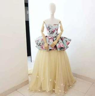 Jacquard Tosca Designer Gown
