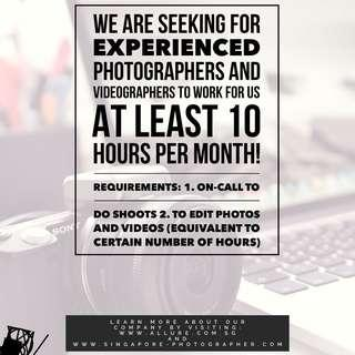Looking for Photographers & Videographers