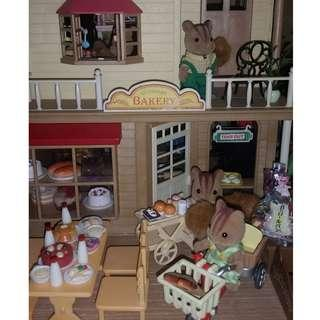 SYLVANIAN FAMILIES BAKERY AND COTTAGE (Sample Set-up • Not for Sale • Inquire for More Items)