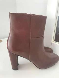 Leather booties from Ann Taylor