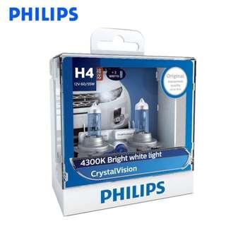 Philips CrystalVision Automotive Headlight H1 H4 H7 H8 HB3 HB4 H11