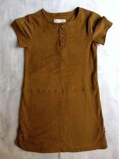Mango Brown Velvet Dress