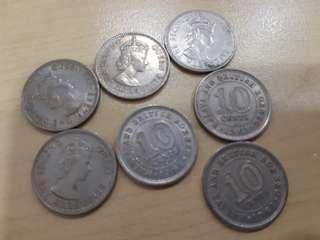 🚚 Vintage 1961 British Borneo old coins