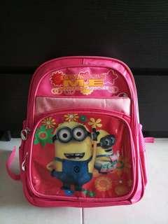 Hot Pink Despicable Me Kindergarten Bag