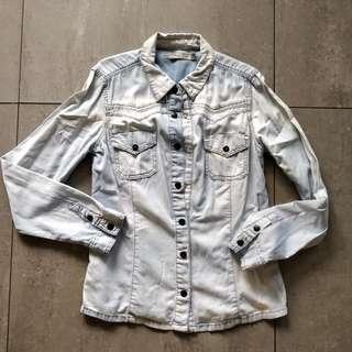 Zara TRF Light Denim Jacket