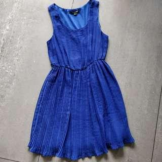 F21 Forever 21 Electric Blue Cocktail Dress